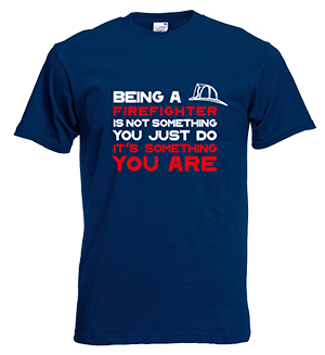 Brandweer t-shirt: being a firefighter