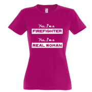Brandweer t-shirt 'Yes I'm a firefighter'