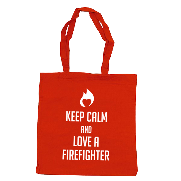 Brandweer tas: keep calm and love a firefighter