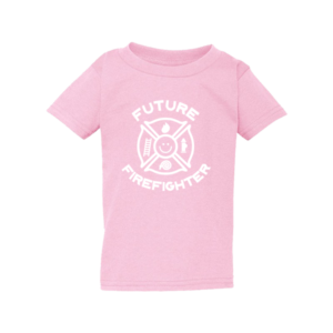 Brandweer t-shirt - Future Firefighter (roze)