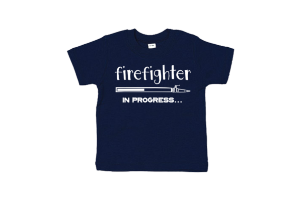 Kinder t-shirt - Firefighter in progress