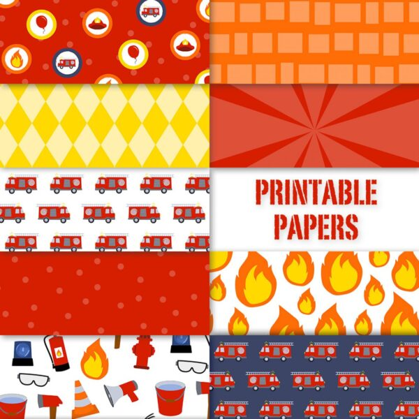 Brandweer printable papers